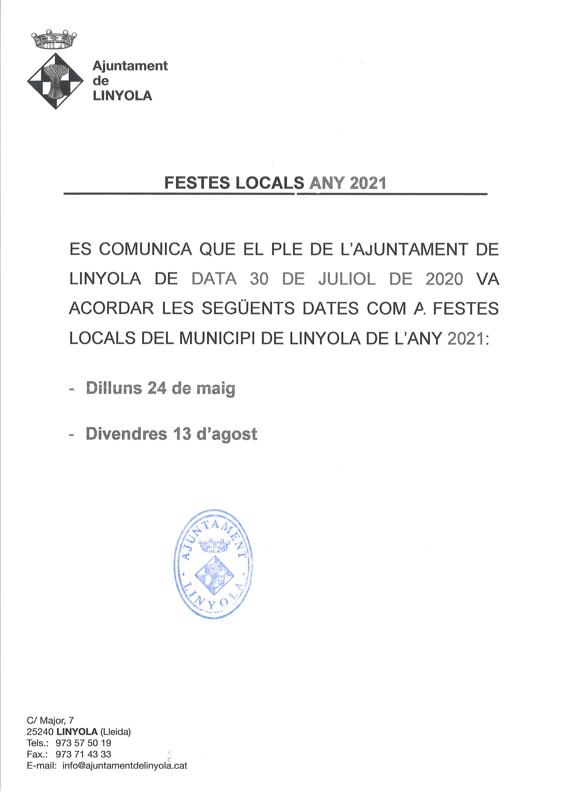 Festes Locals Any 2021